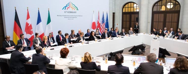 G7 Arbeitsminister diskutieren die Umsetzung der Elmau-Entscheidungen über Global Supply Chains